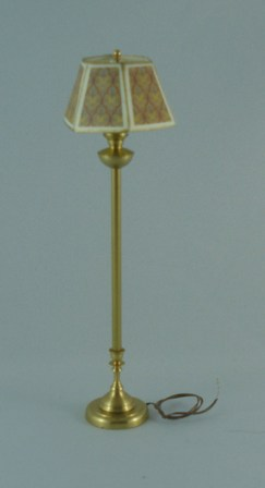 Floor lamp, gold tones