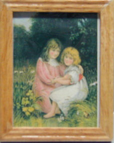 2 girls/oak frame