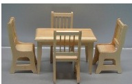 5 pc. oak table/chair set