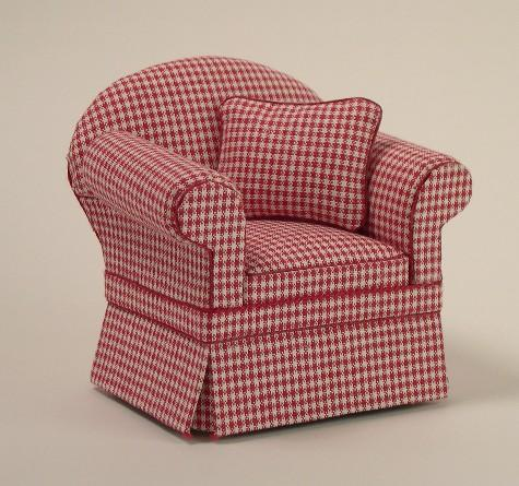 Ashley Red Check Chair