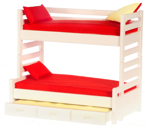 Bunk Bed/trundle/white