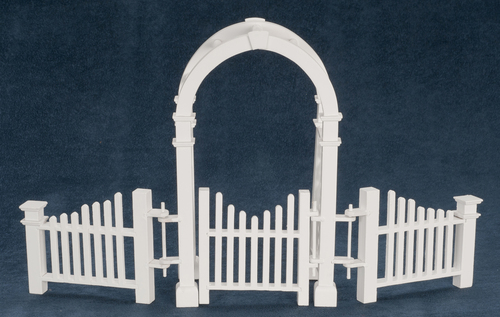 Arbor w/gate and fence