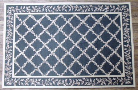 Black lattice carpet