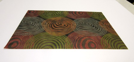 Earth tone circle carpet