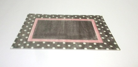 Polka Dot border carpet