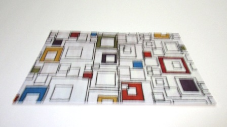 Multi modern squares carpet