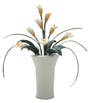 Calla Lillies in pedestal vase