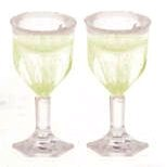 Cut stemware/filled white wine