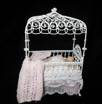 Dressed Crib in pink with Heidi Ott Baby