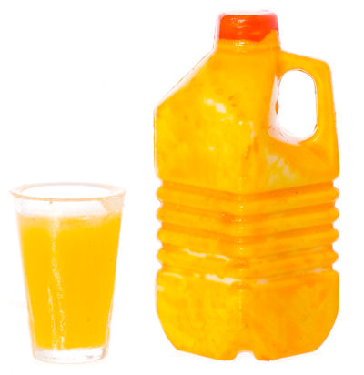 1/2 gallon orange juice/glass