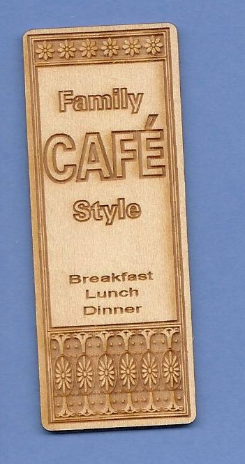 Family Cafe Sign