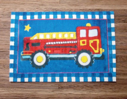 Fire truck carpet/med - Click Image to Close