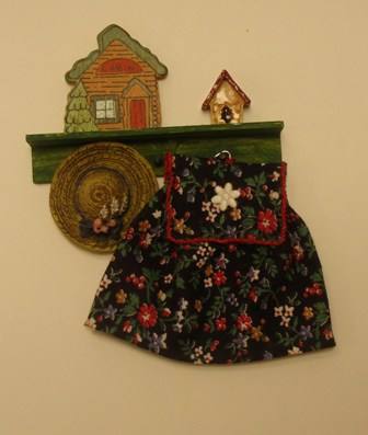 green shelf with dress