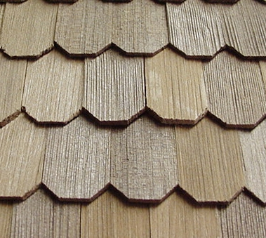 Cedar hexagon shingles