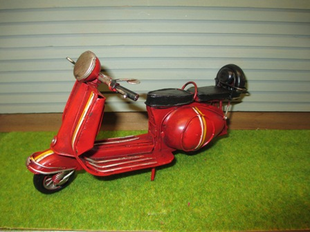 Red Vintage Scooter