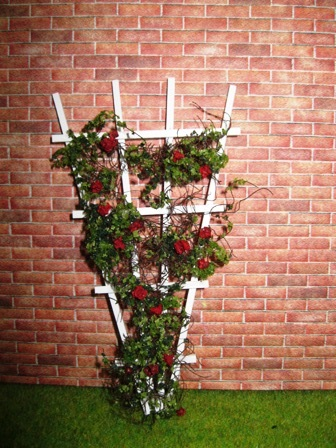 Red Flowering Trellis