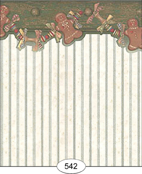 Gingerbread Garland/green - Click Image to Close