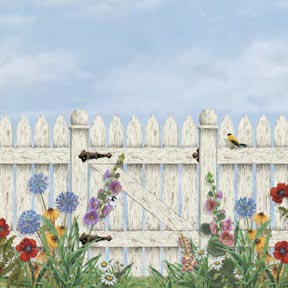 Picket fence mural