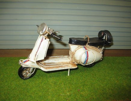 White Vintage Scooter